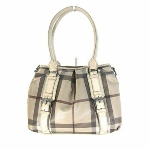 Burberry Northfield Smoked Check Coated Tote